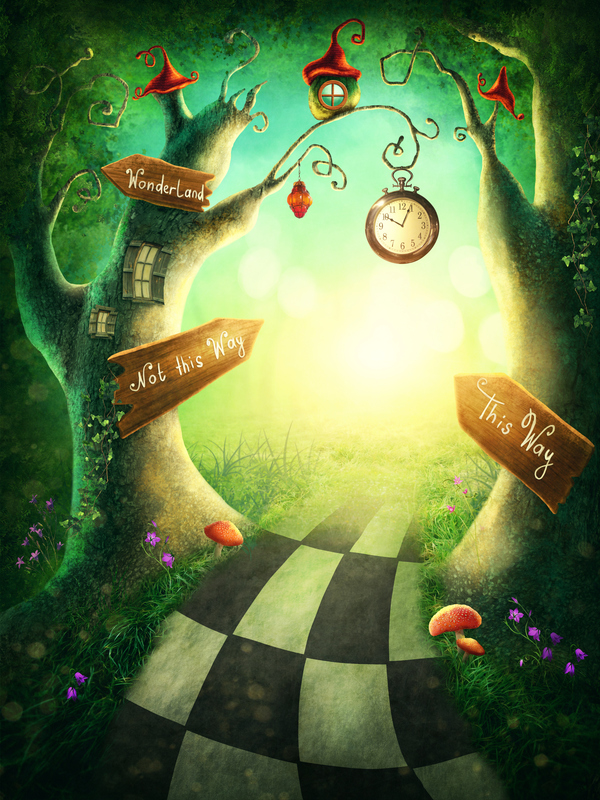 Conte Alice au Pays des Merveilles hypnotique